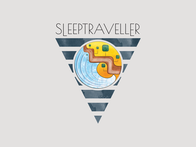 Sleeptraveller illustration design