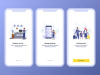 Hotel Booking App Onboarding UI Design