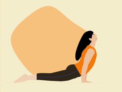 Yoga flat illustration designer yoga app vector graphic design illustration yoga illustration health yoga pose yoga flatillustration