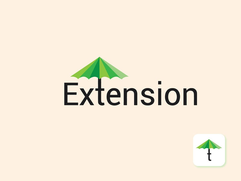 Extension Logo mark branding - logo folio 2020 crative logo vector mimimal mordan logo professional logo logos illustrators icon graphic design flat design creative clean branding arrow app adobe 3d