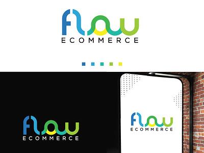 flow ecommerce logo design design symbol logos logodesign branding logo
