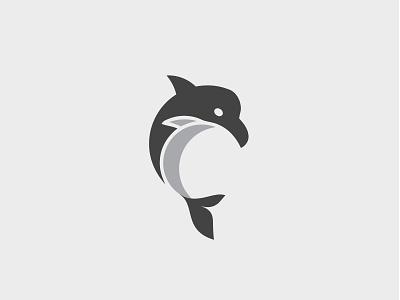 Orca logo dolphin vector design branding fish beach sea icon logo orca