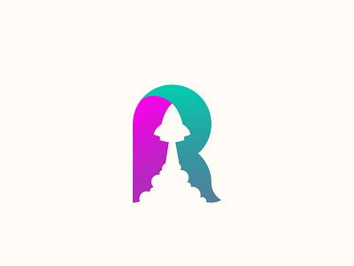 R Rocket r travel plane sky fly up logodesign gradient logo brand logo vector identity graphic design brand design clean logo visual identity logos branding logo icon