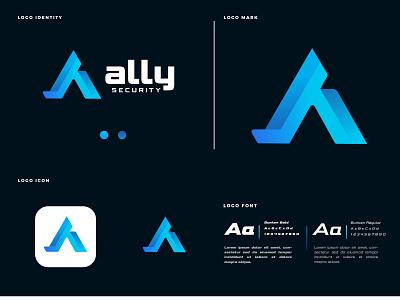 A logo design a logo symbol a icon a brand letter a a letter colorful gradient logo mark logo identity app flat logo design logos branding logo icon abstract