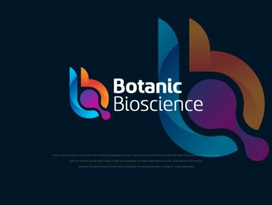 BOTANIC BIOSCIENCE b letter logo b monogram logo b b logo b letter brand identity b symbol mimimal design flat mordan logo logos logo design branding logo icon