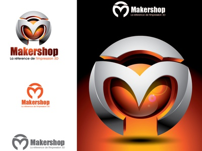 makershop logo design colorful crative logo logos design branding m icon geometric logotype logomark modern 3d logo