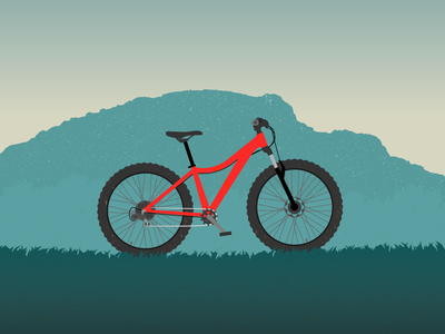 Mountainbike illustration bike
