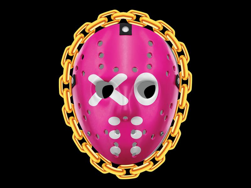 Mask hockey gold chains friday 13th art mask