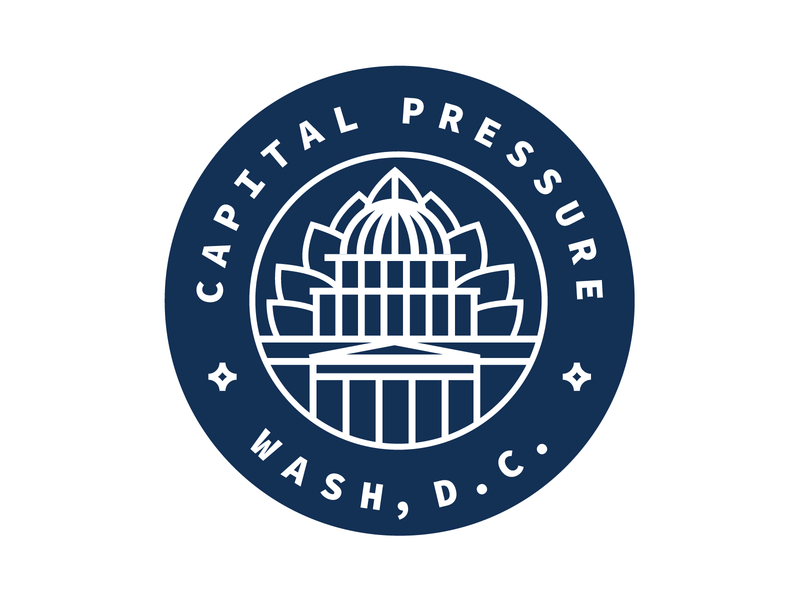 Capital Pressure Delivery Service vector logo branding washington dc marijuana