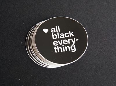 All Black Everything Sticker sigma african american branding helvetica swiss design black culture graphic design stickermule sticker