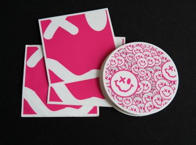 An Eye Open Stickers branding logo emoji stickermule patterns swiss design design graphic design