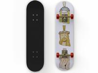 Bury me a G, 3 Jesus pieces skateboard deck