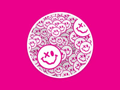 An Eye Open adobe xd cool happy bright smiley face dmv washington dc graphic design branding illustration coaster stickermule emoji