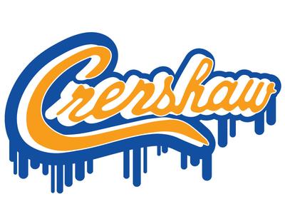 Crenshaw & Slauson vector illustration design graphic design letters lettering drip nipsey hussle