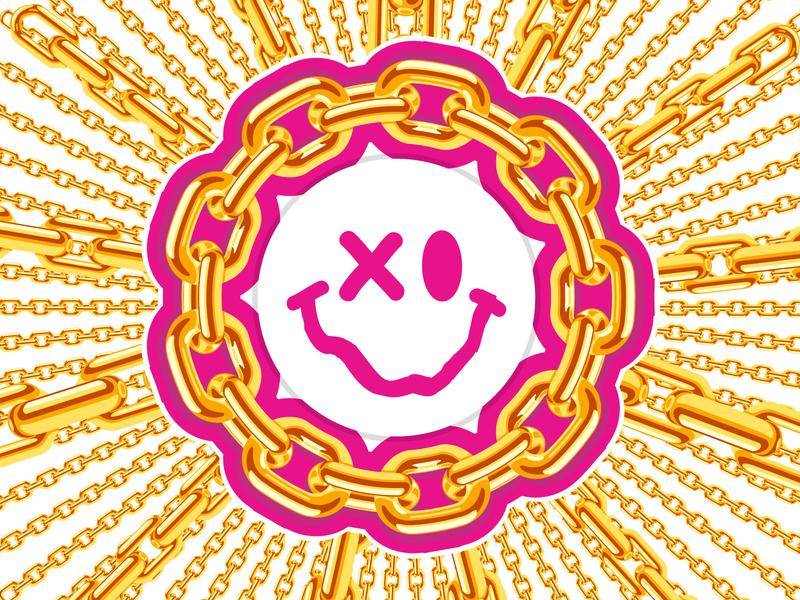 Chains & Sunshades branding chain flower design