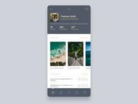 Vintage inspired app profile photography poster social app design app web design ui