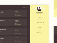 Dashboard Profile Colour Palette ui website menu dashboard design profile dashboard ui freelance jobs dashboard