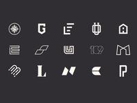 Letters Logfolio icon monogram personal creative renewable modern clean logo branding