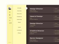 Dashboard Profile and Menu icons profile menu jobs freelance dashboard design dashboard ui dashboard