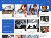 News Website Concept Using Adobe XD