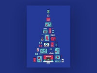 Xmas card blue
