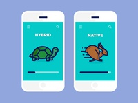 Hybrid Vs Native Apps Icon