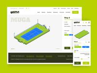 Pitchbuilder desktop and mobile designs