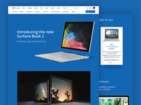 Microsoft Surface Page Concept