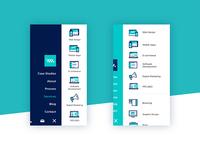 Mobile service menu