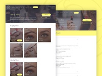Beauty Treatments Page Design