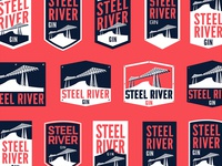 Steel River Gin Logo Development