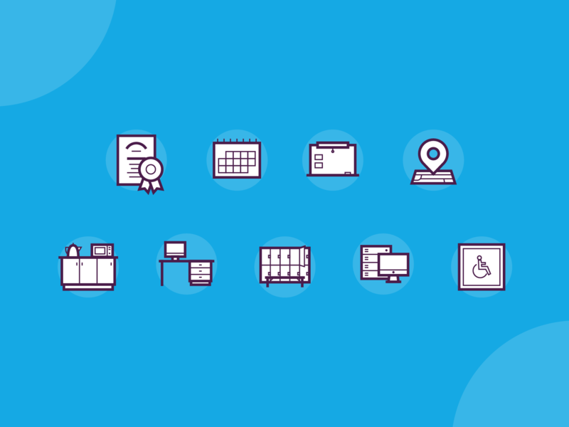Arts Centre Icons icons set services facilities thick lines ux website arts icons illustration vector branding