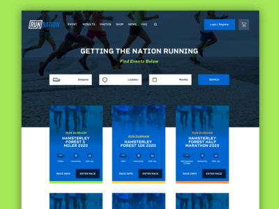 Running Website Search Redesign