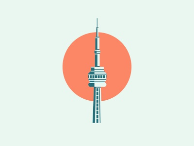 CN Tower Illustration illustration vector modern clean sunset canada icon logo vector illustration cn tower