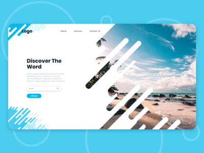 Travel landing page UI