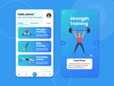 Workout App Challenge Redesign