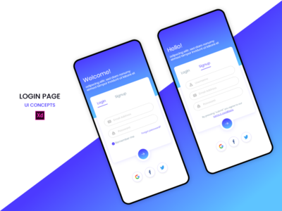 Signup & Login Page