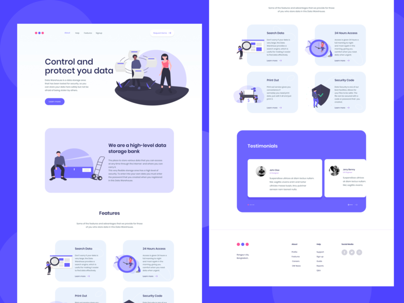 Cloud Data Storage Landing Page adobe xd figma web theme web template alif emu ui design ui ux landing page safe data database cloud data data storage landing page cloud storage landing page cloud storage cloud data storage