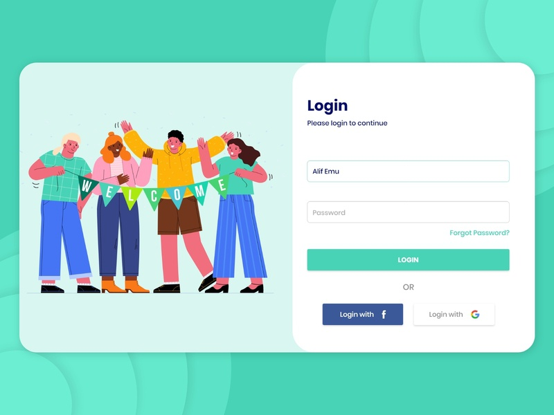 Login Screen for Web adobe xd templates ui design alifemu adobe xd login page for web web login page login ui web app login web web login screen