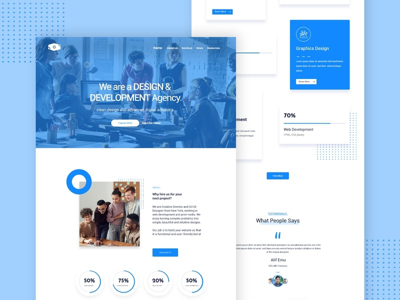 Hire Agency Landing Page web templates landing page web theme design adobe xd templates alifemu hire agency ui design agency ui ui agency homepage adobe xd agency page agency web theme agency web template landing page for agency agency landing page agency