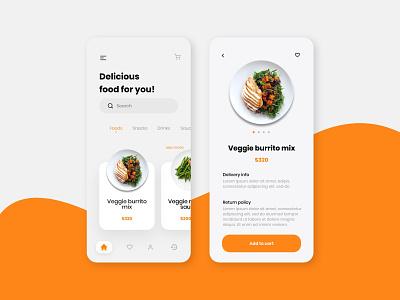 Food App UI ios app adobe xd app design alifemu adobe xd templates mobile app ui kit food ios ios adobe xs ui design food ui foods food delivery food app food