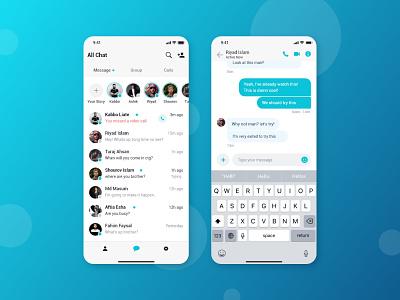 Chat App UI adobe xd app design adobe xd templates mobile app ios app alifemu ui kit adobe xd ui ui design sms sms app chat ui message ui message app chat app chat