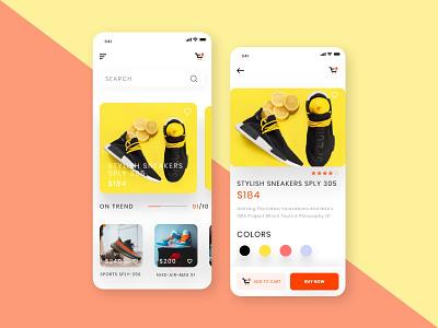 Sneakers E-Commerce App UI adobe xd app design ui ui design mobile app ios app alifemu fashion fashion app online shop online shopping e-commerce app concept e-commerce mobile app e-commerce app e commerce ecommerce