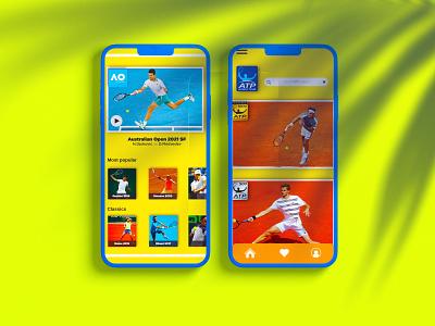 UI concept for ATP tennis. user interface design user experience user interface design interface interaction design illustration application app design app ui uidesign ux uiux ui design