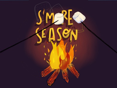 Smore Season smores fire sweets food campfire camping hand-lettering digital lettering handlettering