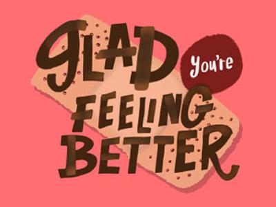 Bandaid_Greetingcard design hand-lettering digital illustration illustration handlettering