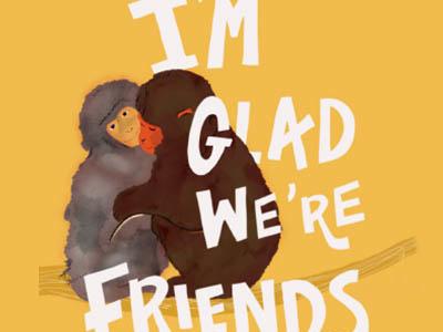 Monkeys Greeting Card digital lettering design typography animal illustration illustration hand-lettering handlettering digital illustration