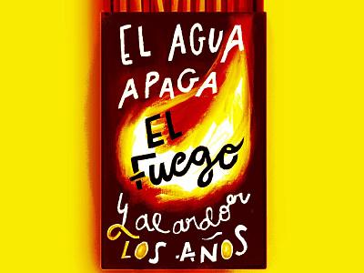 Match boxes sabina lyrics illustration lettering matches fire fireart