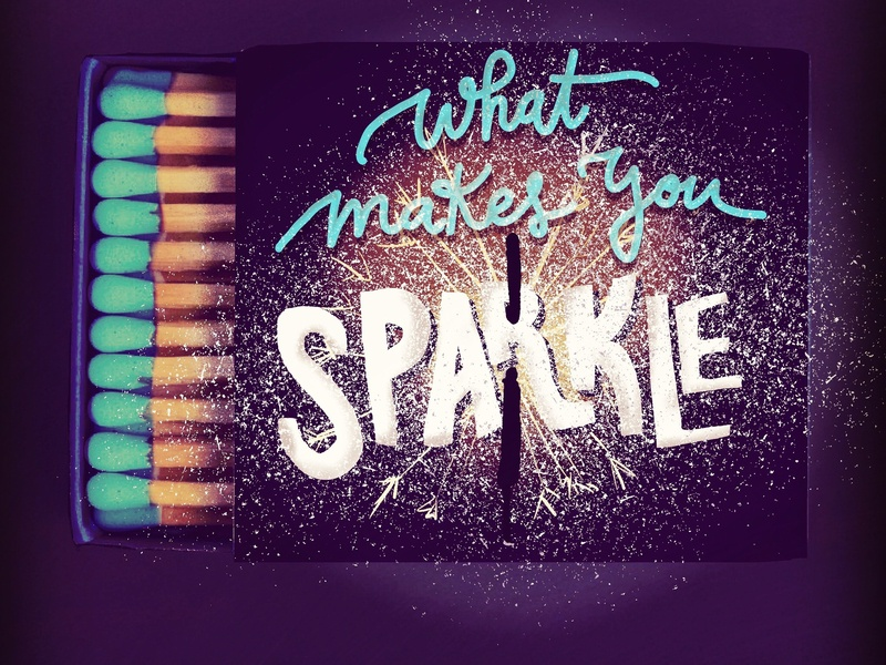 Match boxes handlettering typography digital illustration lettering illustration matches sparkle fire