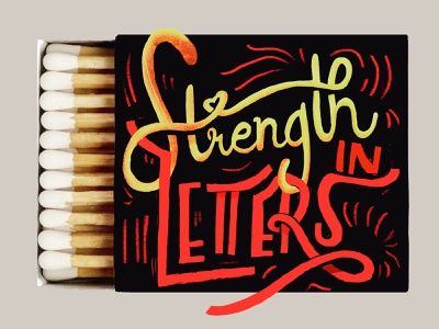 Matches series fire digital lettering typography matches illustration digital illustration handlettering